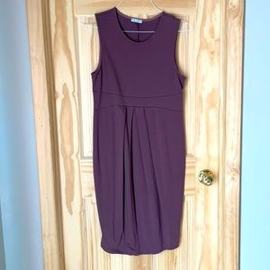 Purple pencil dress